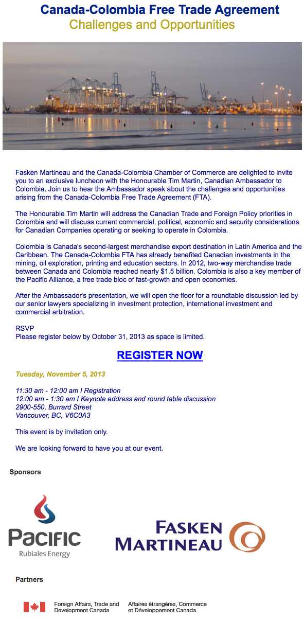 Canadacolombiachamber Canada Colombia Free Trade Agreement